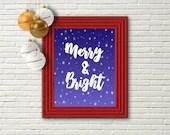 Merry and Bright, Printable Christmas Art