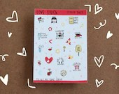 Love stuck Sticker sheet - Planner stickers - vinyl stickers - Kawaii stickers - Journal stickers - A6 size