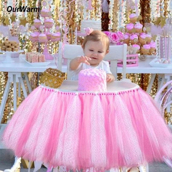 Tutu Tulle Table High Chair Skirt by pilipinbag