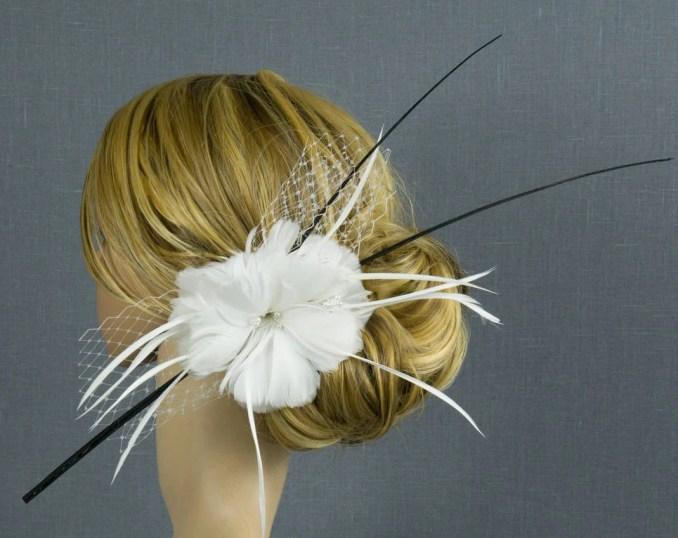 bridal hair accessories haarschmuck braut bridal fascinator tiara wedding hair accessories bride headpiece feather hair comb derby headpiece