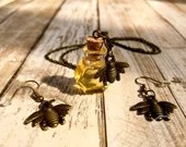 Honey Jar Necklace & Earring Set