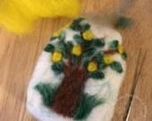 Handcrafted Felted Artisan Soap - Lemon Tree