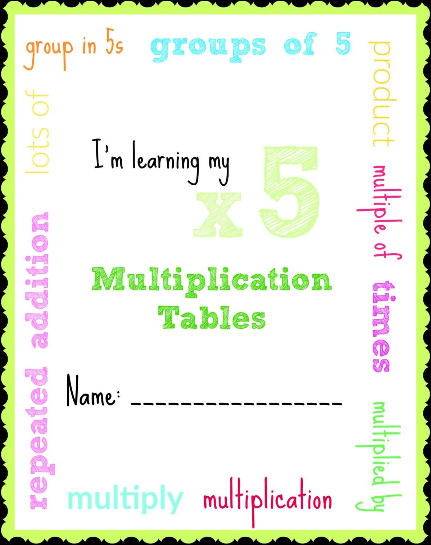 Homework Helper Multiplication Tables Resources X2 X5 X10