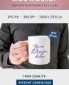 Mug Mockup With Man Man Holding Coffee Mug Mockup Stock Etsy