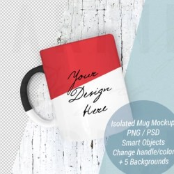 Mug Mockup Set Photoshop Psd File Smart Objects Changeable Etsy