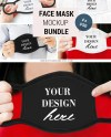 Face Mask Mockup Bundle Face Cover Mockup Woman With Face Etsy