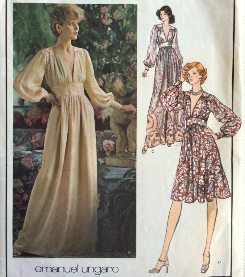 1974 Vintage Vogue  Sewing Pattern B34 DRESS 1894 By image 1