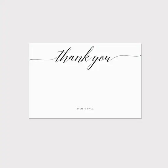 Printable Thank You Card Template Whimsical Calligraphy Thank You Card Editable Stationery Wedding Card Pdf Instant Download Ss002 4