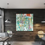 Abstract Painting Hotel Art Gallery Art Large Abstract Painting Interior Design Restaurant Wall Art Contemporary Abstract Wall Art