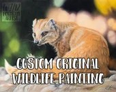 Custom widlife artwork commission in coloured pencil by award-winning wildlife artist