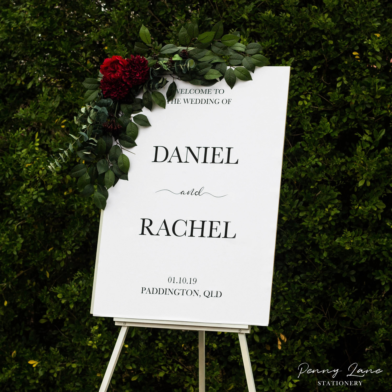 editable pdf wedding welcome sign to