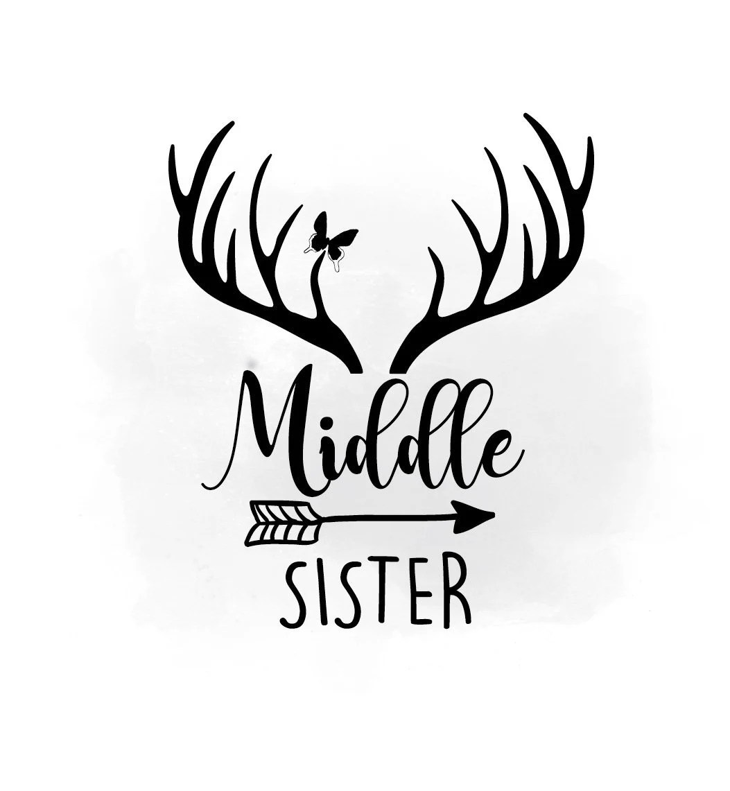 Middle Sister Svg Clipart Big Sister Printable Boho
