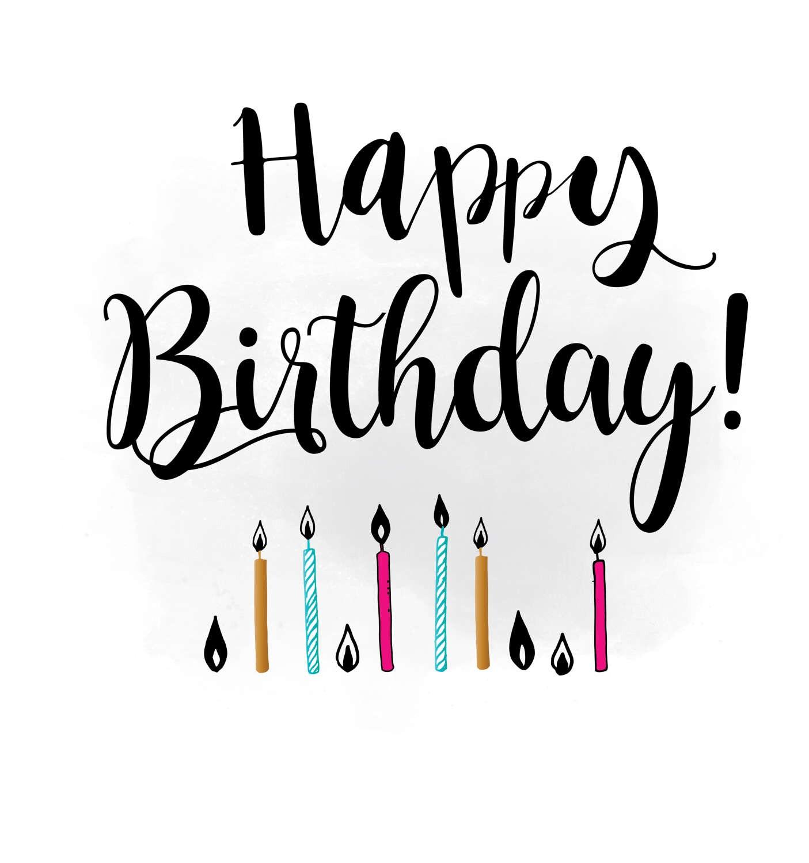 Happy Birthday Svg Clipart Birthday Quote Digital Cutting