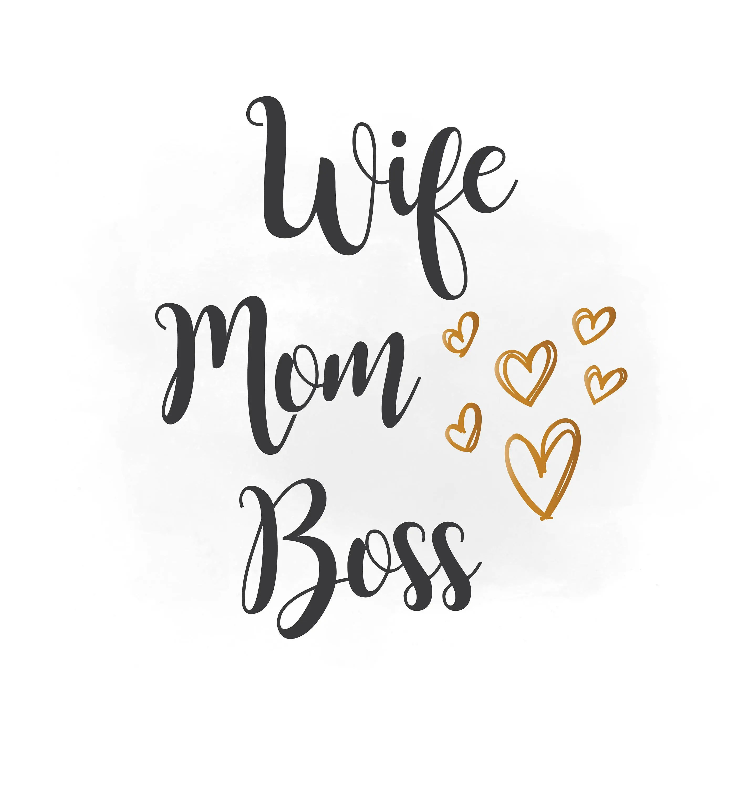 Wife Mom Boss Svg Clipart Family Mom Quote Wife Mom Boss