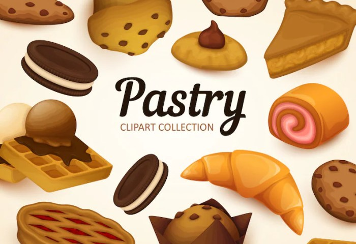 Bakery Clipart Pastry Clip Art Collection Vector Art Etsy