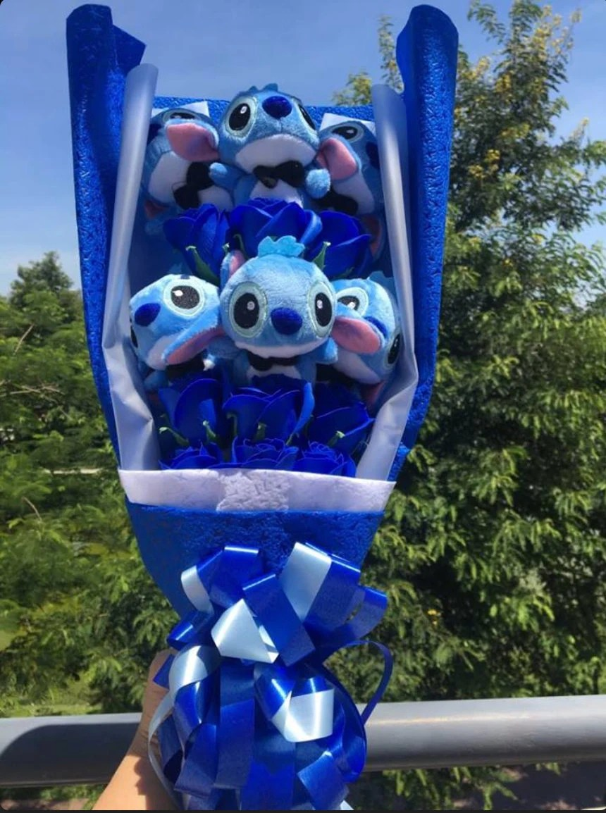 Inspired by Disney Stitch and Lilo stuffed cartoon bouquet image 2