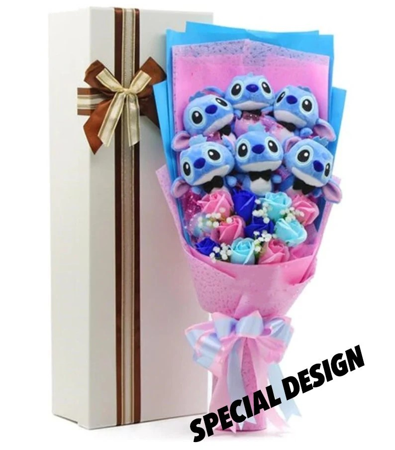 Inspired by Disney Stitch and Lilo stuffed cartoon bouquet Special Design