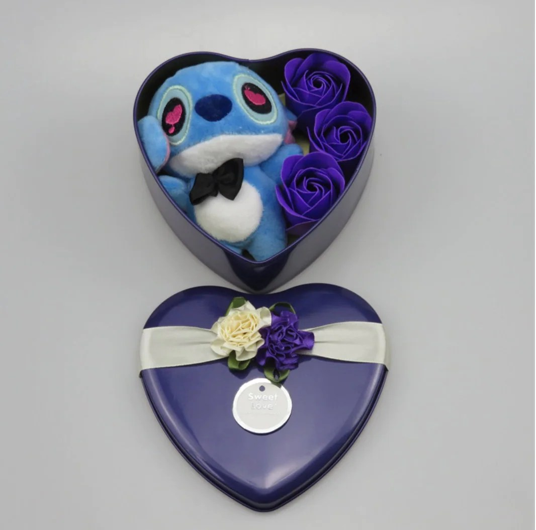Inspired by disney Handmade lovely stitch plush toys with soap image 5