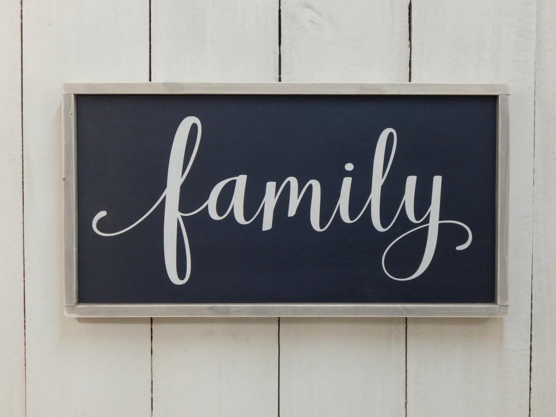 Family Sign Wood Family Sign Family Wood Sign Framed