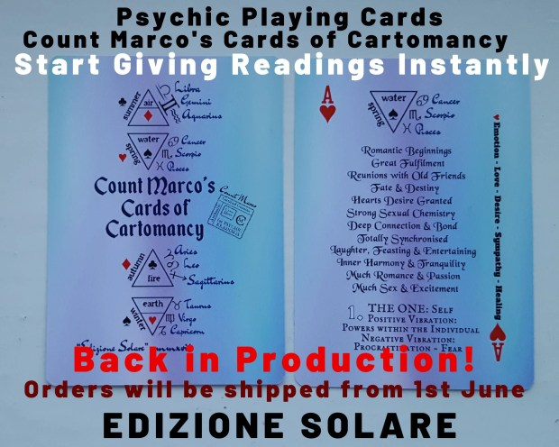 EDIZIONE SOLARE Edition PSYCHIC Playing Cards! Playing Cards for Psychic Readings!