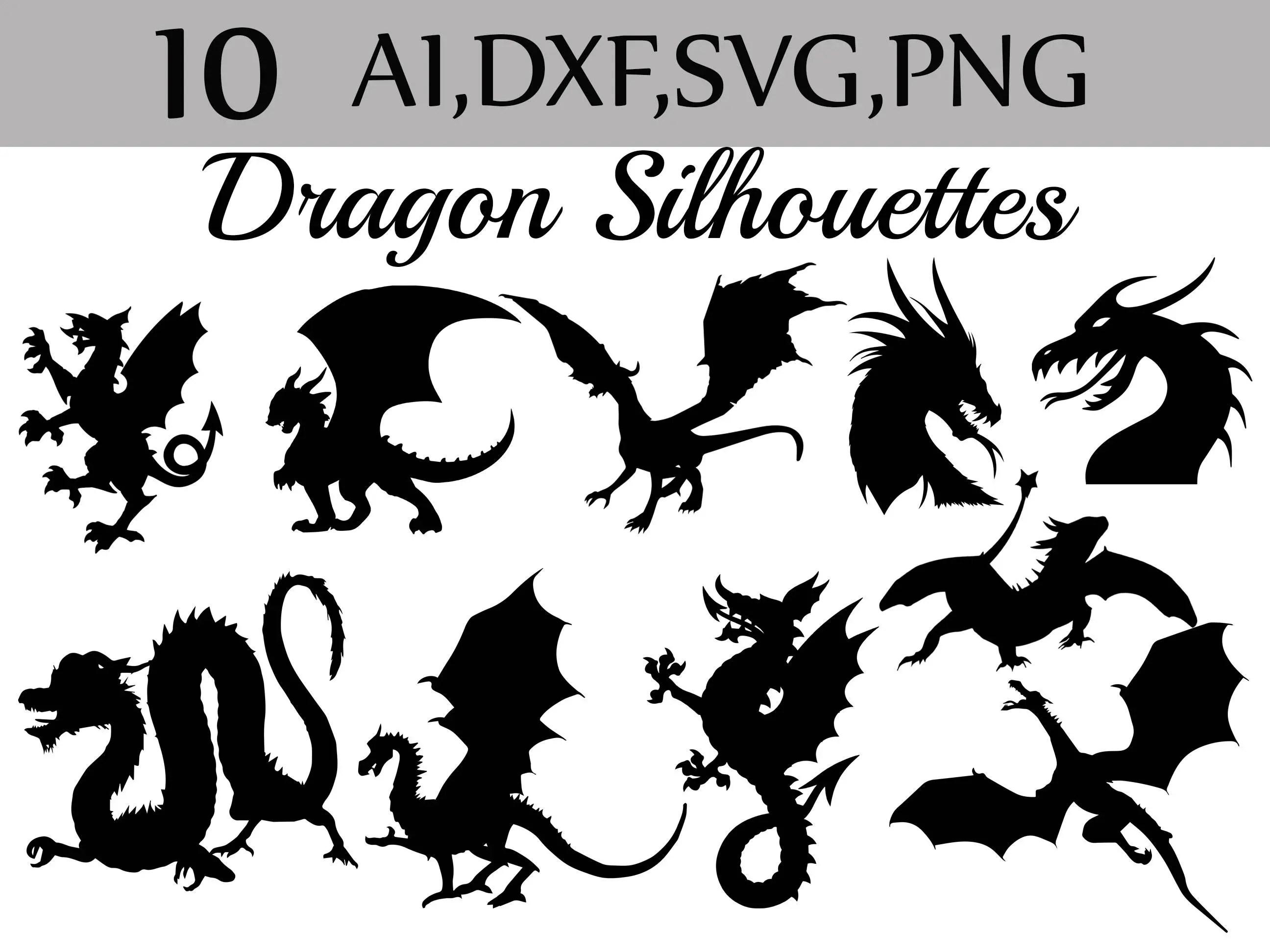 Svg Dragon Silhouette Clip Art Silhouette Clipart
