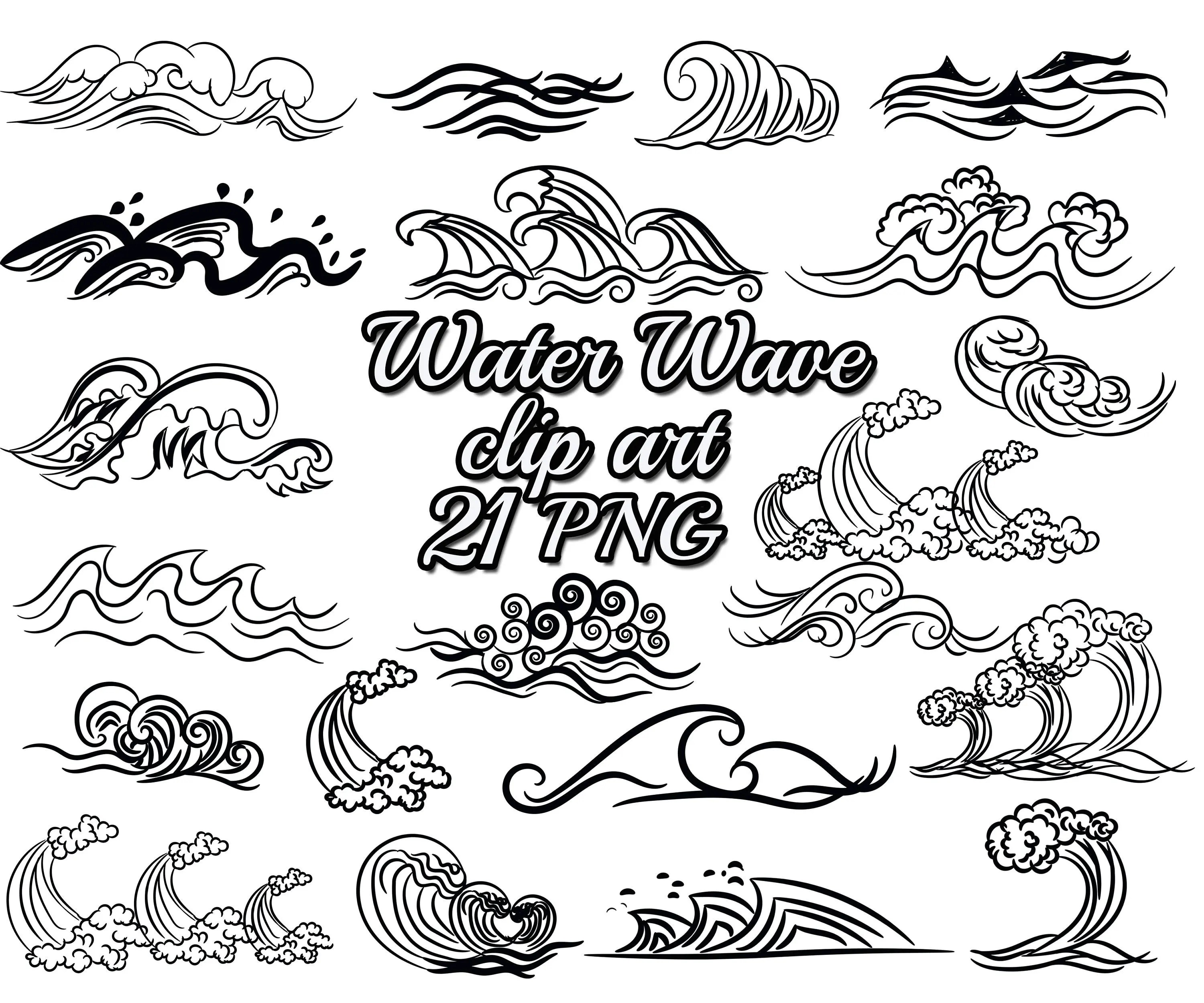 Wave Clip Art Water Wave Clipart Nautical
