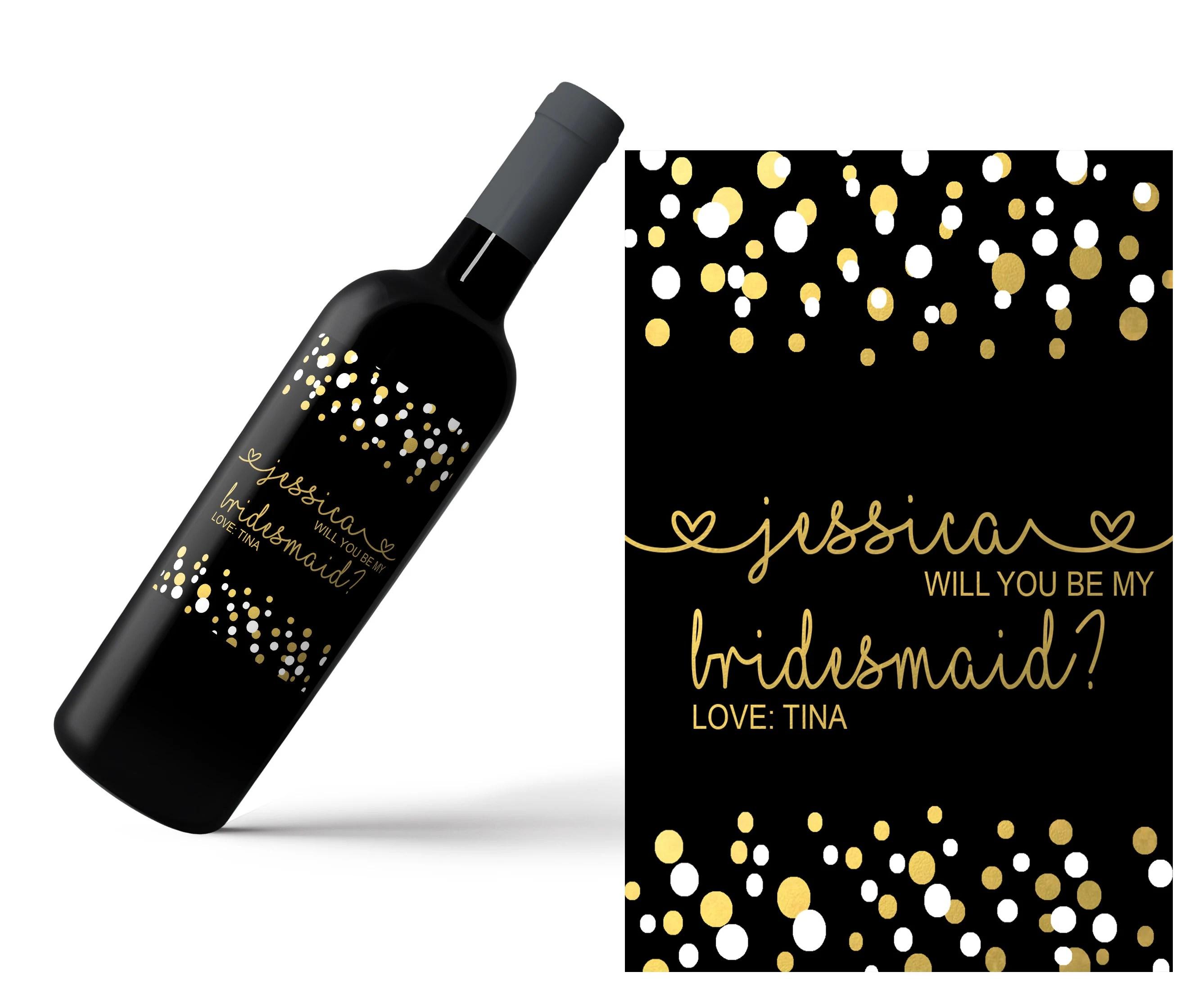 Mini Champagne Bottle Labels / Wine Labels/ Custom Name Label image 3