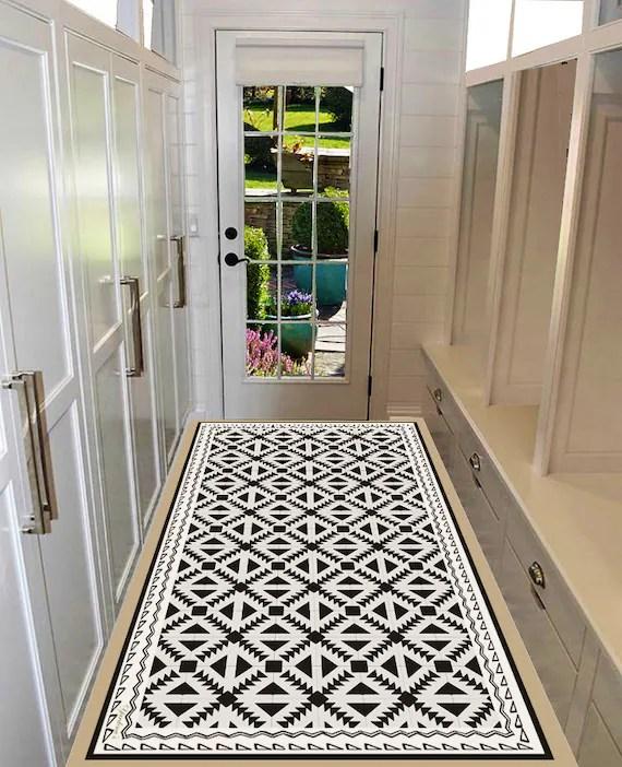 tapis vinyle pvc tapis vinyle plancher de vinyle de coureur tapis en pvc motif geometrique tapis de cuisine tapis de linoleum tapis d art mat