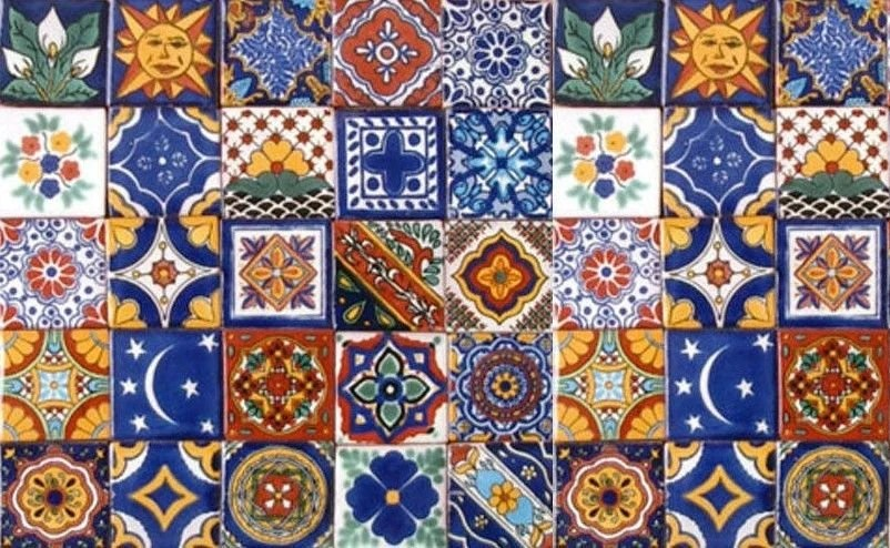 40 tiles 6x6 inches assorted mexican