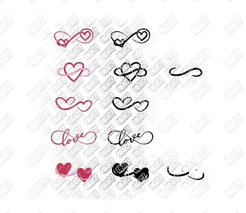 Download Infinity Love Heart Valentine svg dxf eps jpeg png format ...