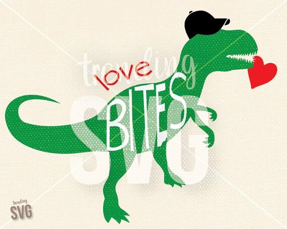 Download Valentine's Day Love Bites Dinosaur SVG Cutting File   Etsy