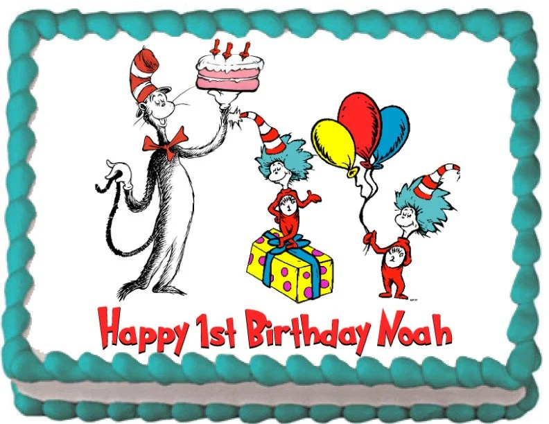 New 36 Seuss Cat In The Hat Cake Toppers Decorations Cake Toppers Baking Accs Cake Decorating