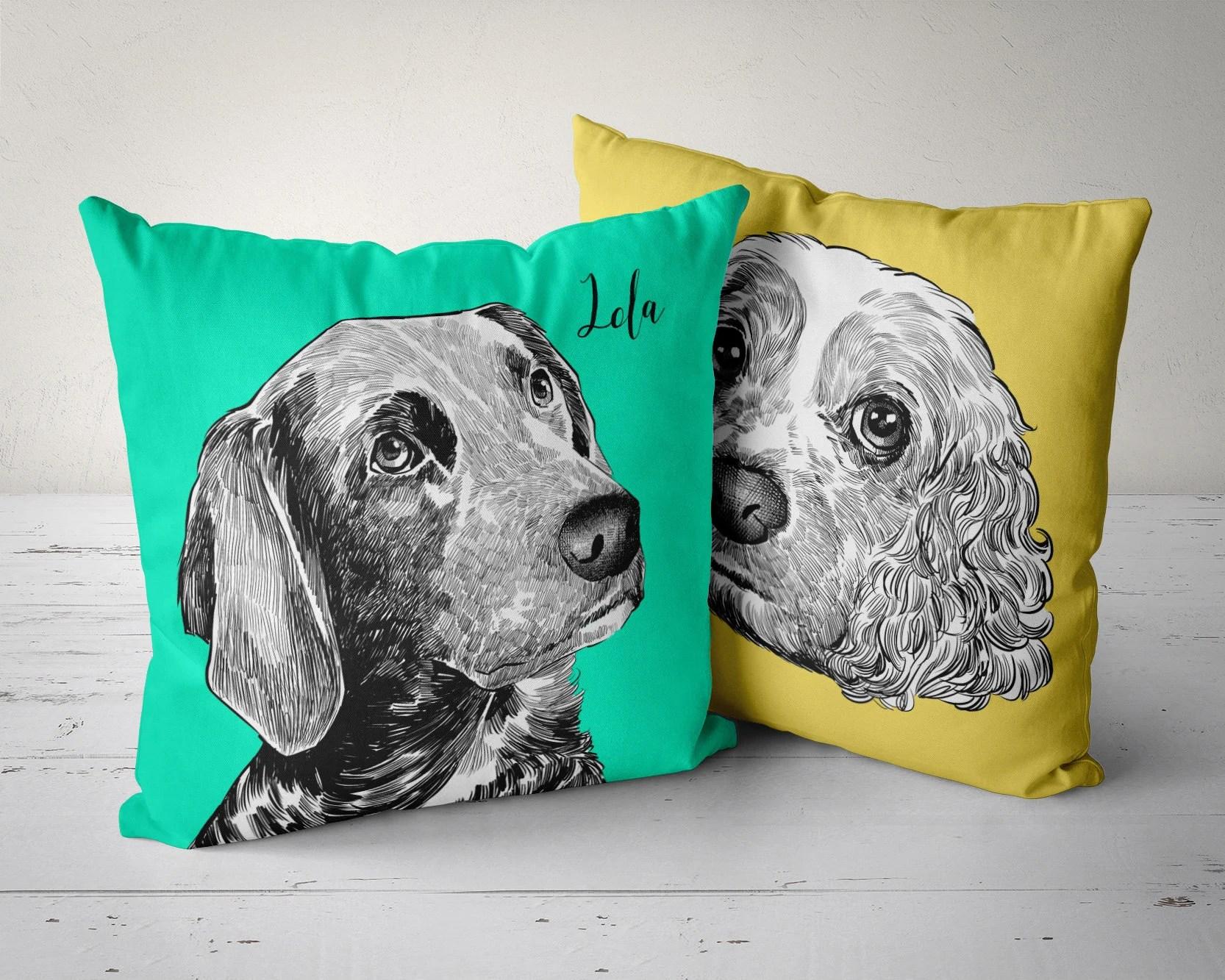 pet pillow personalized pet pillow custom pet pillow customized dog pillow dog portrait pillow custom throw pillows cases pillow cover