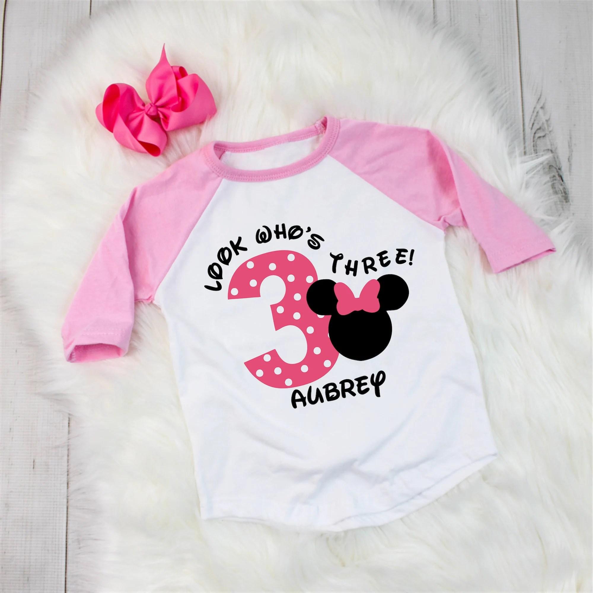 Disney Inspired Minnie Mouse Birthday Shirt Polka Dot Etsy