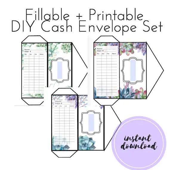 Editable Diy Cash Envelopes Fillable Budget Envelopes Cash Envelope System Dave Ramsey Organization Printable Cash Envelope Template