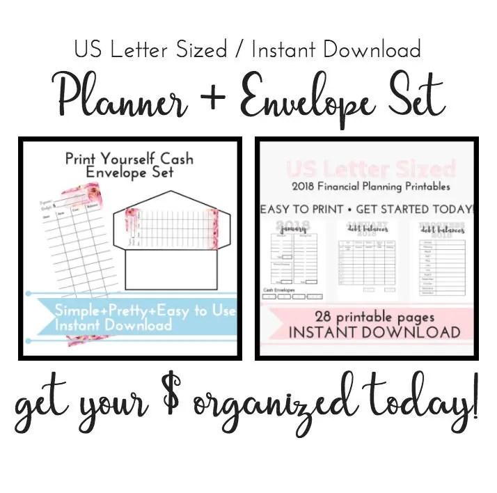 Printable Dave Ramsey Cash Envelopes Cash Envelope System Budget Debt Snowball Budget Planner Printable Cash Envelope Template Planner