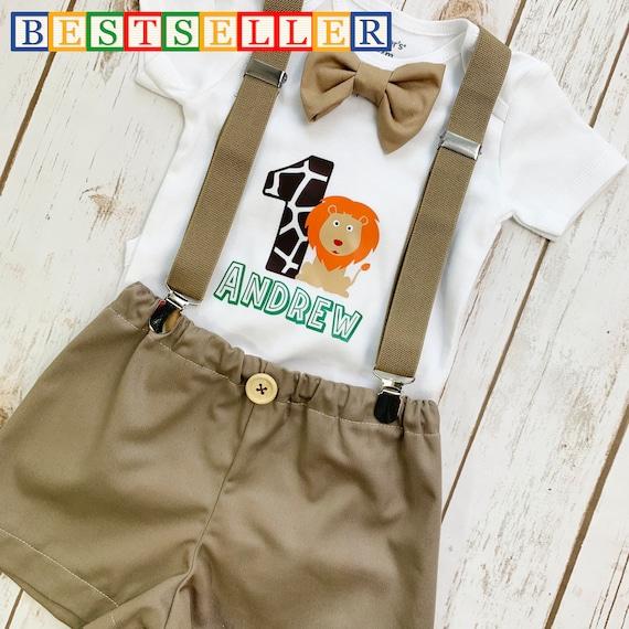 Boy 1st Birthday Outfit Safari Outfit Boy First Birthday Etsy