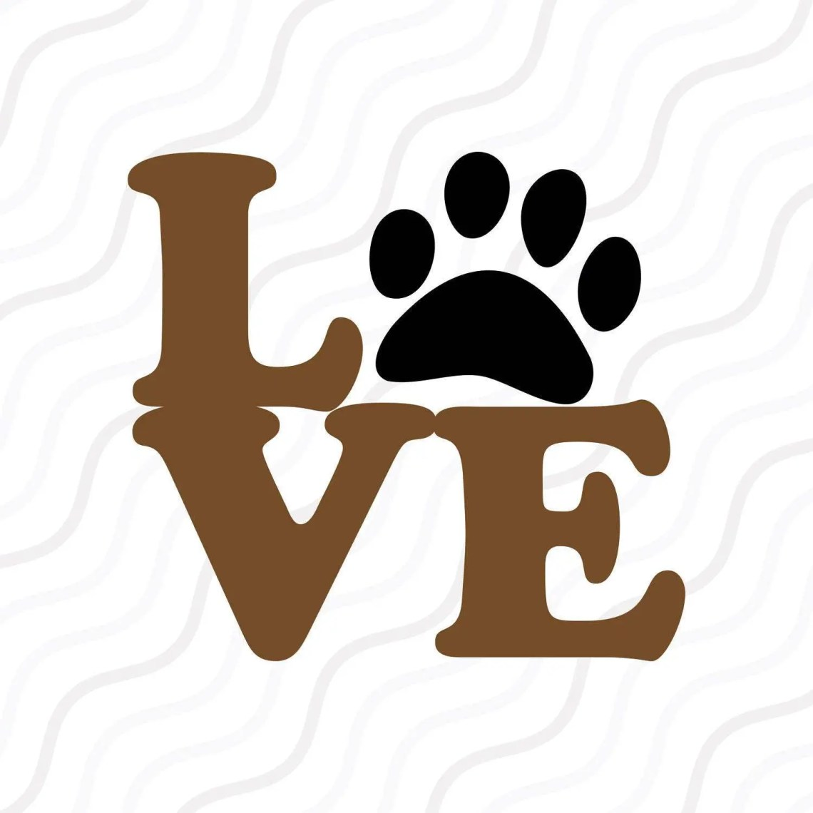 Download Love Paw SVG Puppy Love svg Paw Print SVG Cut table | Etsy