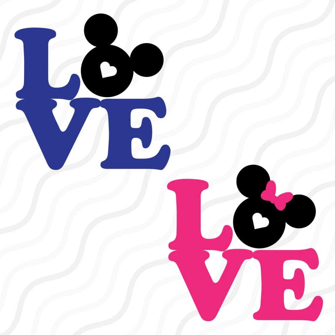 Download Love Mickey Mouse SVGDisney Valentine SVGLove Quote SVG ...