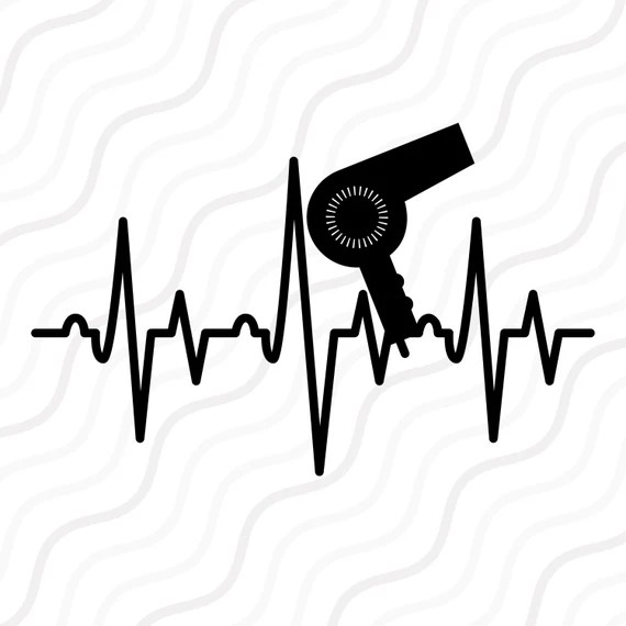 Download Hair Dryer Heartbeat SVG Salon SVG Heartbeat SVG Cut table ...