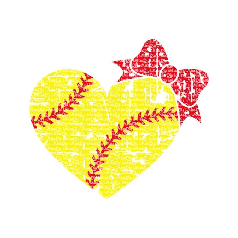 Download Distressed softball svg heart mom svg love softball svg ...