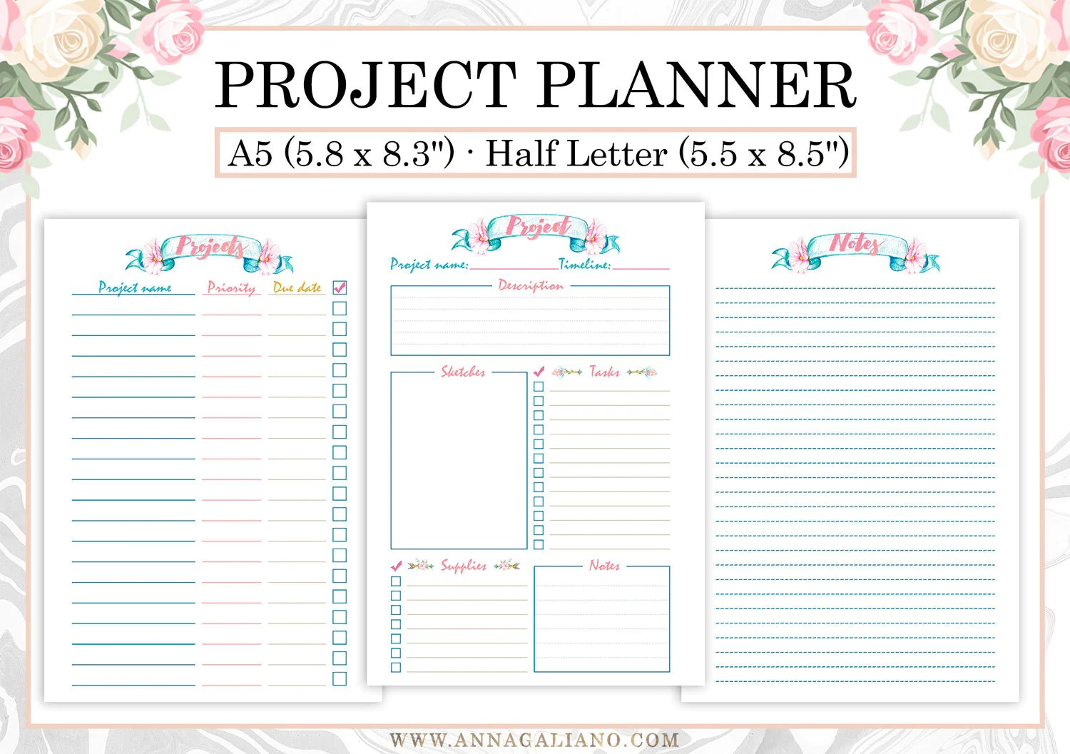 Project Planner Printable Project Planner Template Craft