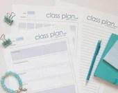 Yoga Class Plan, Yoga Class Plan Printable, 3 Page PDF Download, Yoga Teacher Class Template, Yoga Class Sequence, Instant Download, Yoga