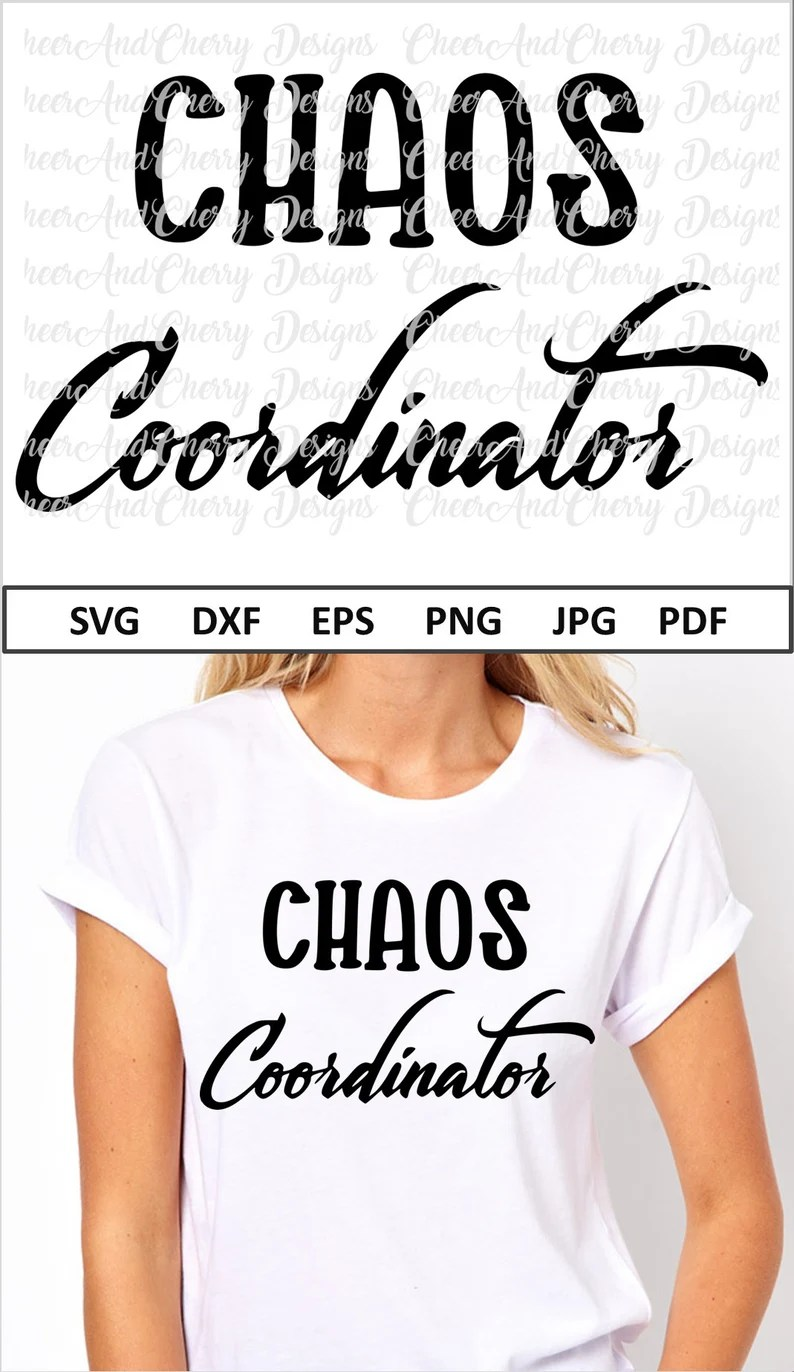 Download Chaos Coordinator Svg for Mom Svg Mothers day Svg files ...