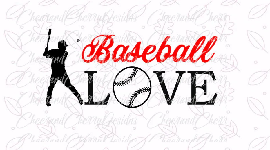 Download Baseball love SVG Baseball svg files for Silhouette svg ...