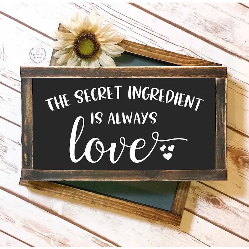 Download The secret ingredient is always love SVG modern farmhouse ...