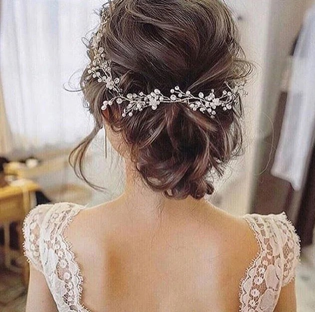 crystal and pearl hair vine extra long hair vine bridal hair vine wedding hair vine crystal hair piece bridal jewelry hair vine pearl