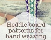 Heddle board patterns for band weaving, beginners pattern for hand woven trimmings, viking rigid heddle technique