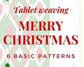 Christmas Tablet weaving patterns, basic chart to create colorful belts and decorative ribbons, immediate download pdf patterns