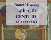 Medieval 14th 15th century tablet weaving patterns, basic and intermediate chart to create colorful belts and dress bordures for reenactors